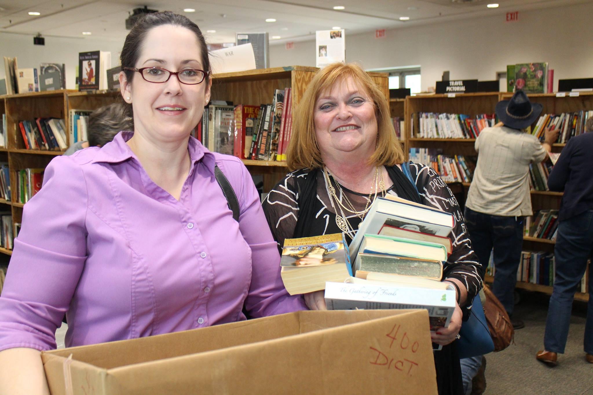 Friends Book Sale shoppers